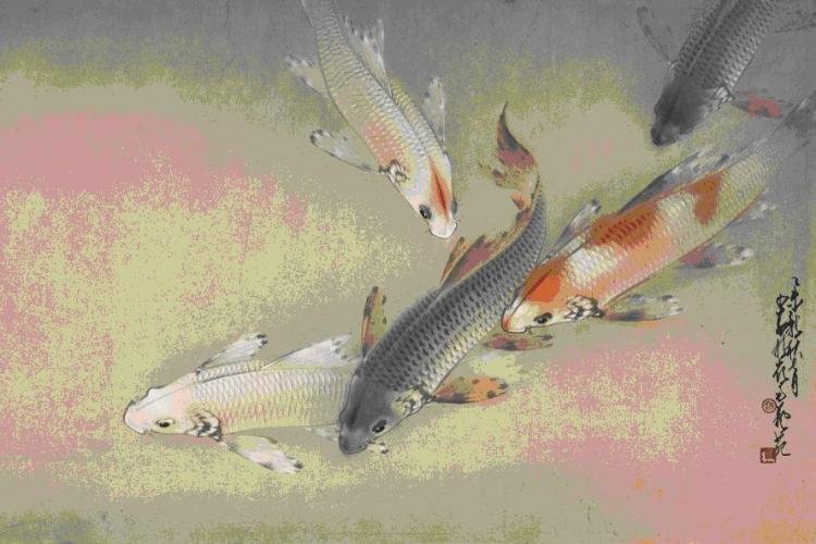 由廣州藝術博物院藏借出的的珍藏展品《碧水澄明魚自適 》