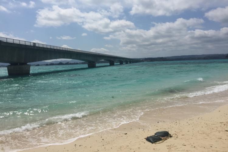 古宇利島大橋下海灘