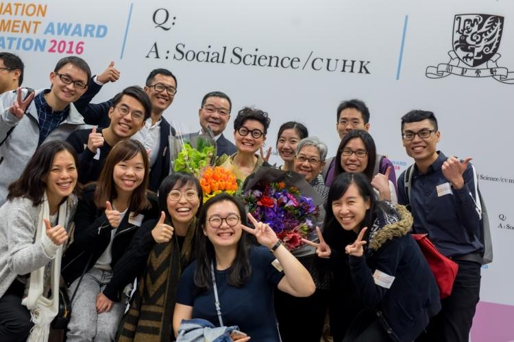 Winnie在2017年獲選為香港中文大學卓越研究獎及研究指導獎