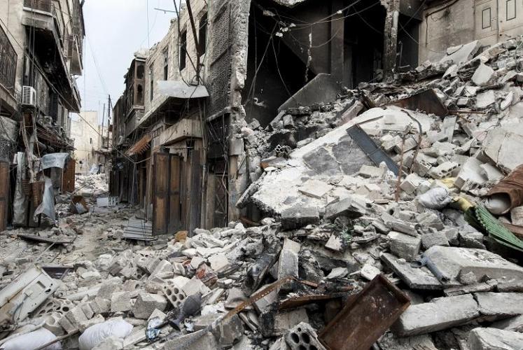 六年內戰令敘利亞多個城市遭受破壞