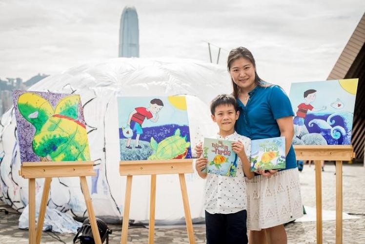 七歲愛心小畫家Brian及其畫作