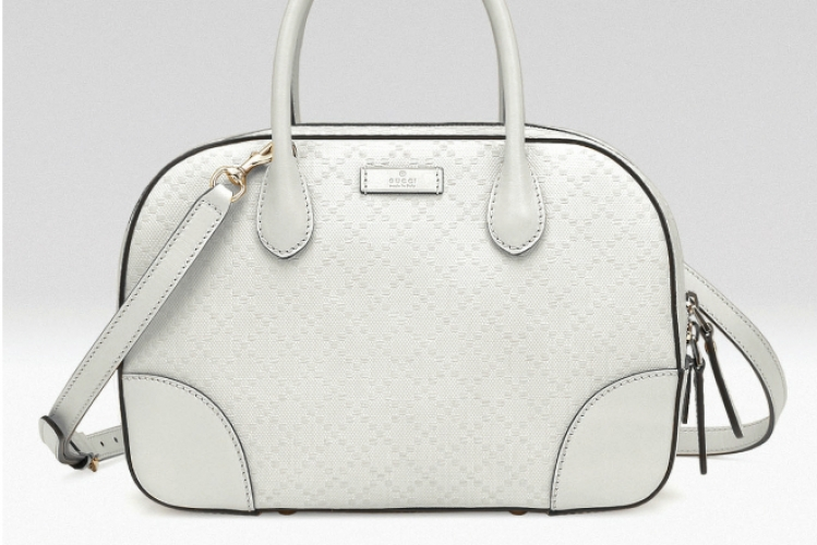 Gucci Bright Diamante 白色小號手挽袋  $14,490