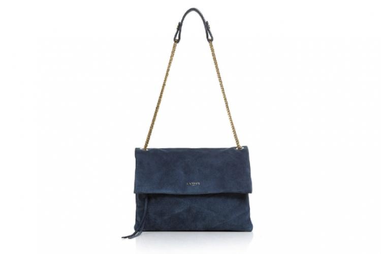 Lanvin Sugar 藍色猄皮手袋