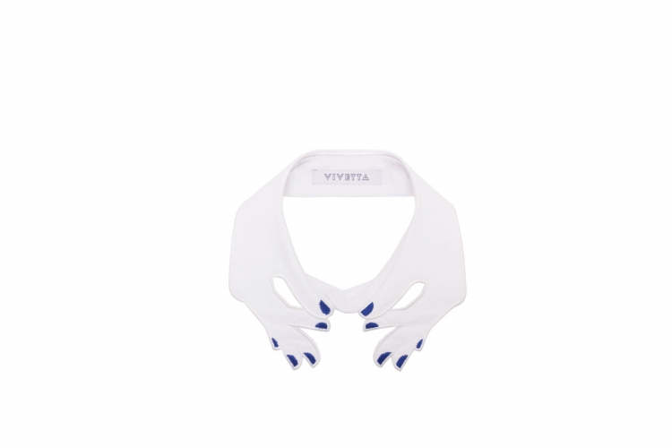 Vivetta 白色手形圖案衣領 $1,995