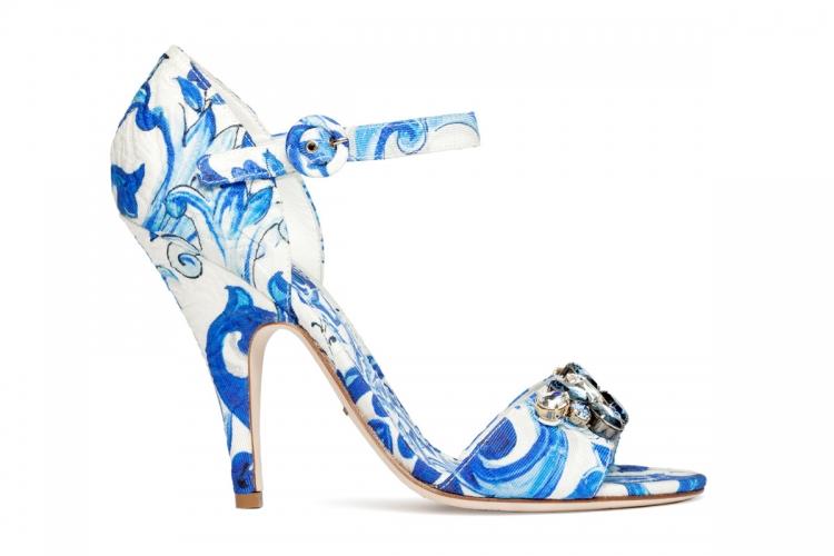 藍白陶瓷花紋綴閃石高跟鞋 $8,100