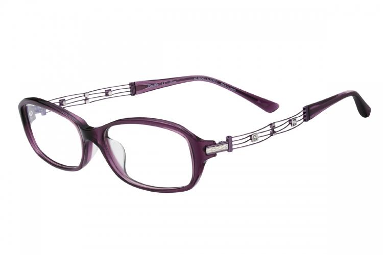 LineArt CHARMANT - CANON 紫色綴水晶「Ex-鈦」彈性鏡臂眼鏡 $4,200