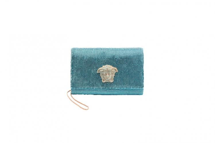 粉綠色拼閃石手提包 $31,000