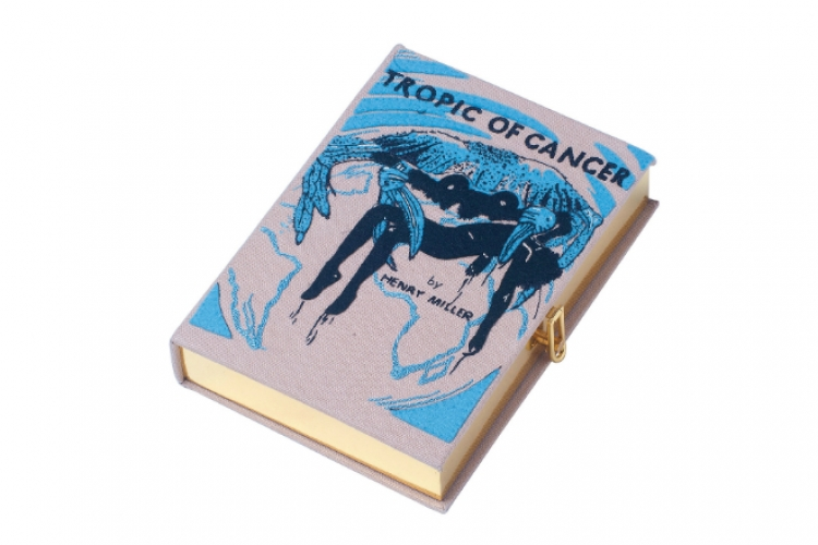 Olympia Le Tan 帆布繡字圖案書形 clutch $13,500 from Joyce