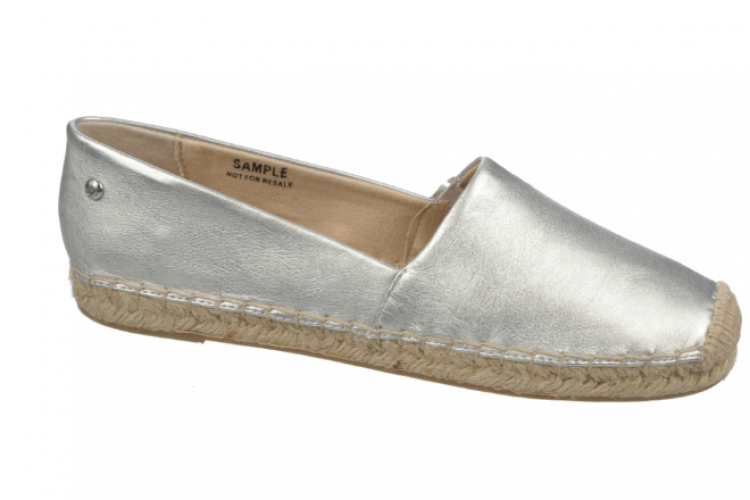 Sam Edelman 銀色軟皮麻質底 espadrille $790 from Lane Crawford