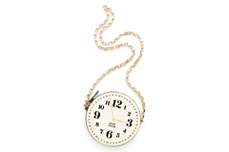 Kate Spade All Aboard Clock 圓形時鐘手袋 $2,700