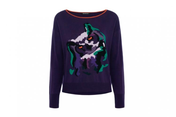 Pennyblack 貓頭鷹圖案紫色毛衣 $1,780
