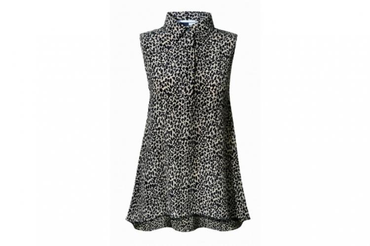 Sportmax Code 灰黑色豹紋背心恤衫裙 $3,080