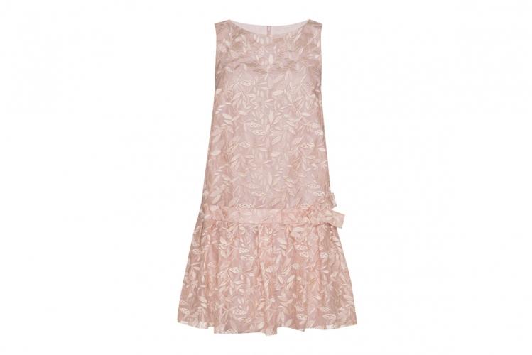 Paule Ka 淡粉紅色綴刺繡花圖案連身裙 $9,995
