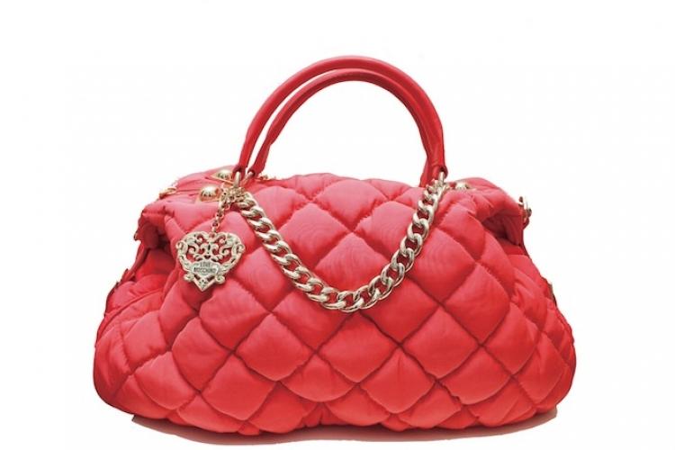 LOVE MOSCHINO 紅色尼龍布夾層襯墊手袋 $2,800