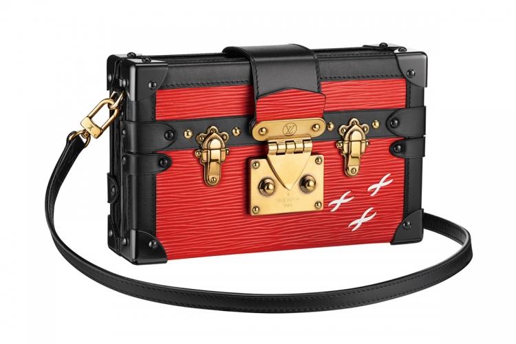 Louis Vuitton 鮮紅色綴黑邊手提合 售價待定