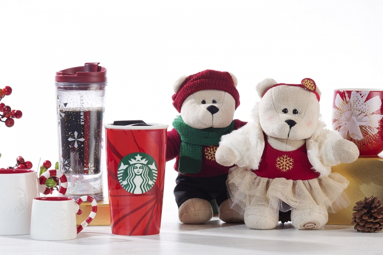 Christmas Mug & Tumbler, Brewing Equipment, Ornaments andBearista® Bear 聖誕咖啡杯及隨行杯、沖調用具、掛飾及星巴克熊 $60~345