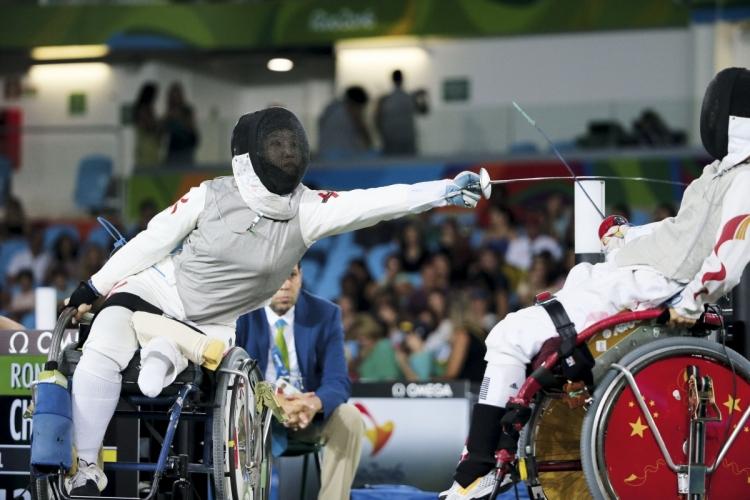 2016年里約殘奧會上,余翠怡於輪椅劍擊女子A級花劍個人賽勇奪一面銀牌。