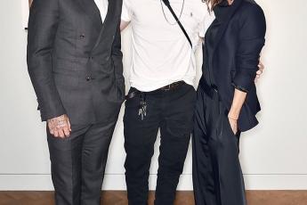 Brooklyn, Victoria & David Beckham