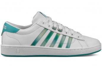 白色配漸變綠色間條鞋 HK$549(Kwsiss)