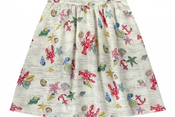 CATH KIDSTON Lobster & Shells Cotton Skirt HK$590
