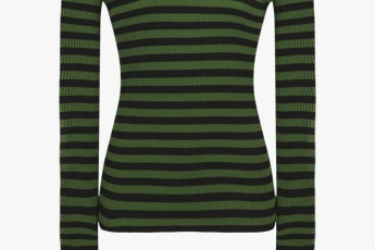 Sonia Rykiel green stripped top $3,200