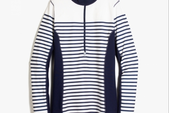 J.Crew INTRANSIT HALF ZIP JACKET IN STRIPE $950