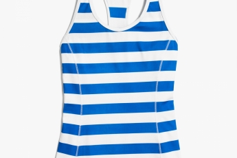 J.Crew RACERBACK TANK TOP WITH BUILT IN BRA IN STRIPE $550