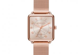 Michael Kors 玫瑰金色Brenner腕錶 HK$2,300