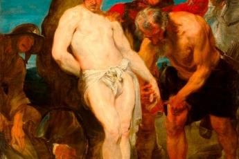 「聖塞巴斯蒂安殉難」油畫