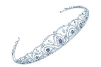 TIFFANY & CO. Diamond & Montana sapphire tiara (price upon request)