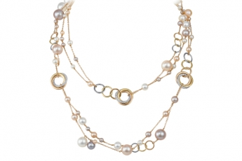 Cartier Trinity necklace with freshwater pearls & diamonds $417,000