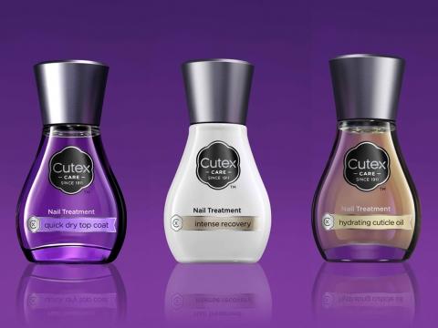 編輯推介︰(右起) Cutex Hydrating Cuticle Oil潤甲精華素、Intense Recovery快速修復損甲、Quick Dry Top Coat極亮快乾面油  各$59