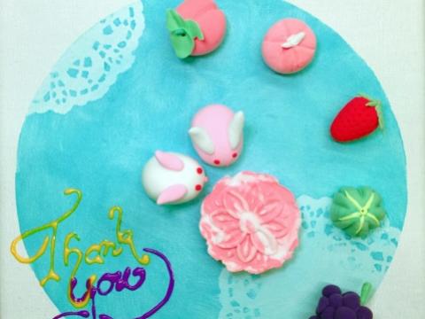 「幸福和菓子」輕黏土手工創作