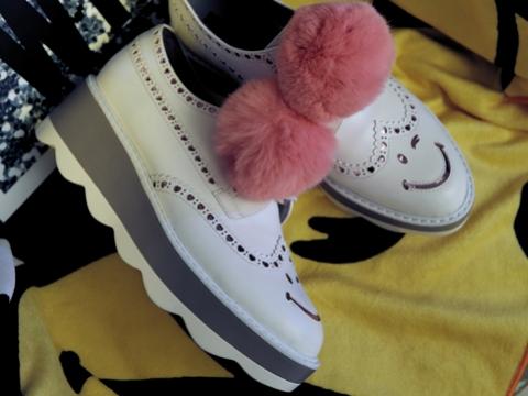 粉紅毛球厚底鞋 HK$1,395