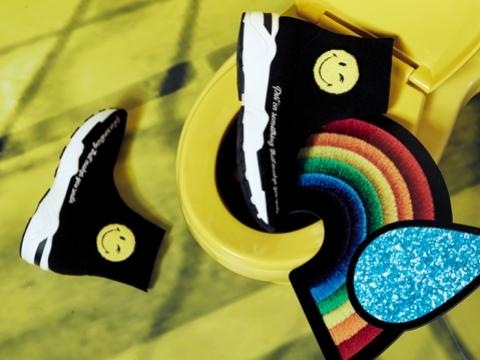 黑色厚底sneaker HK$995