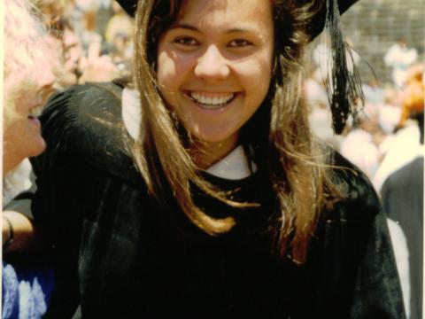 安白麗史丹福大學畢業時攝。