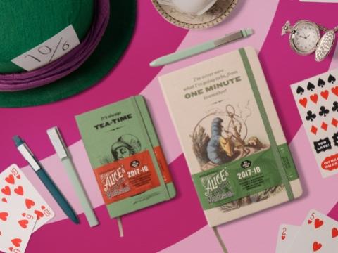 Moleskine 18-Month Weekly Notebook ALICE IN WONDERLAND Planner - Tea-Time HK$198 / One-Minute HK$248