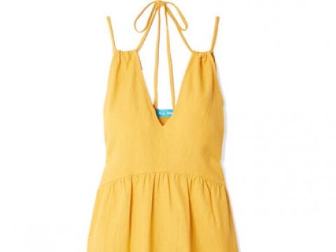 Lita cotton-voile midi dress HK$765(M.I.H JEANS)