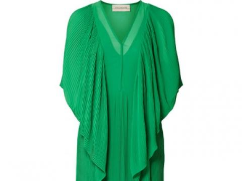 Middanna draped plissé-chiffon maxi dress HK$945 (BY MALENE BIRGER)