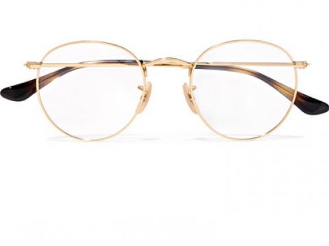 Round-frame gold-tone optical glasses HK$1,035 (RAY-BAN)