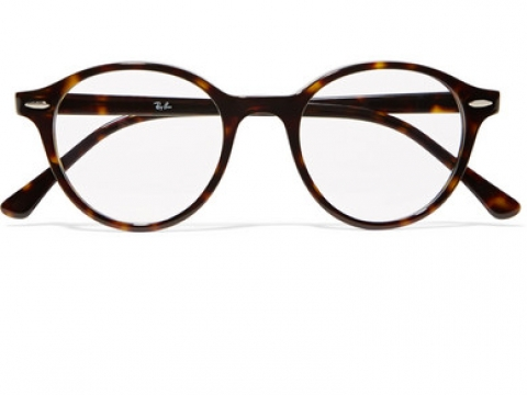 Dean round-frame tortoiseshell acetate optical glasses HK$1,110 (RAY-BAN)