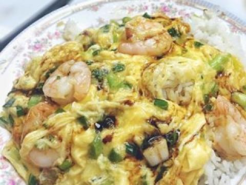 不食肉的,選滑蛋蝦仁飯也同等美味!