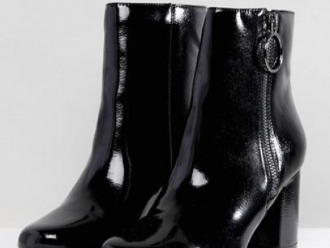 Patent Heeled Boots HK$366 (Pimkie)
