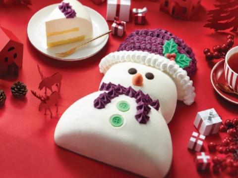 冬日の雪人,造形下是香滑的雲呢嗱慕絲及奶凍夾心,配以海綿蛋糕及口感豐富的白朱古力脆珠,加上以甜美紫薯茸編織而成的頸巾及冷帽。$238