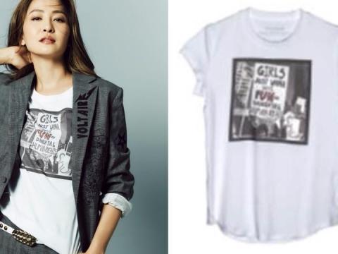 ZADIG&VOLTAIRE x Micol Sabbadini FW18慈善限量版T-Shirt HK$1,100