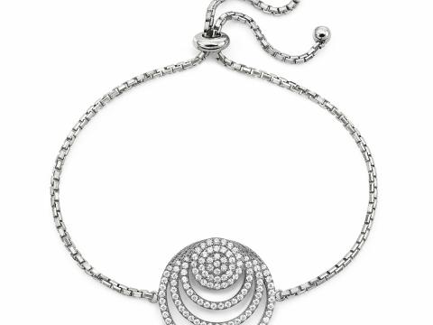 圓圈圖案銀色水晶頸鏈 HK$875 (Folli Follie)