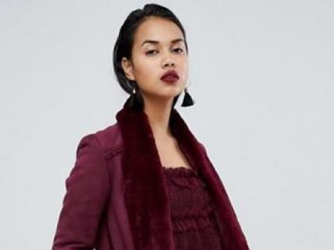 Longline Faux Fur Coat HK$1,037 (River Island)