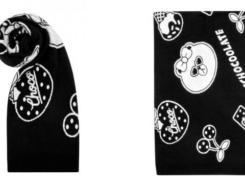 ALL-OVER PRINT 針織頸巾 HK$299