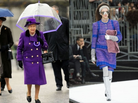 皇氣紫大褸 vs AW 17 Chanel