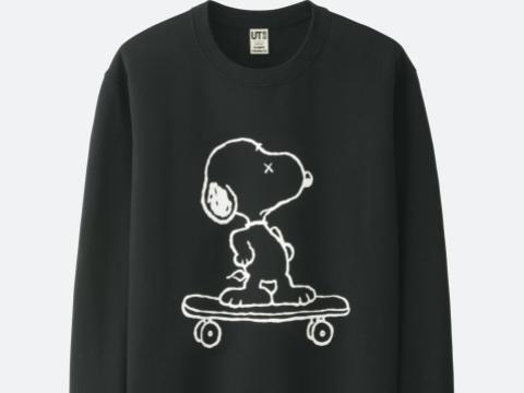 黑色Snoopy滑板圖案衛衣 HK$149
